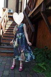 Платье 100 шелк, р.116-128