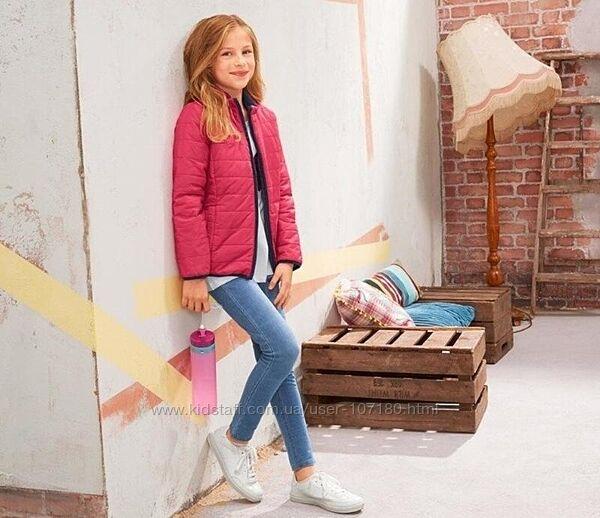 Двусторонняя демисезонная стеганая куртка TCM Tchibo, Германия, 10-12 лет,