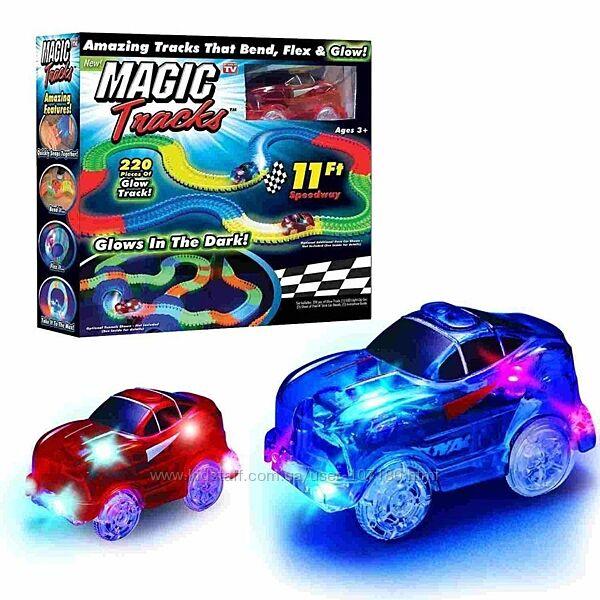 Детский трек с машинкой Magic Tracks 220 деталей