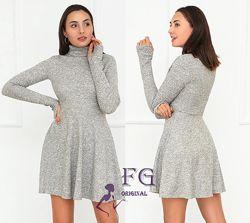 Выбор цвета. Трикотажное платье колокольчик под горло р. 42-44, 46-48