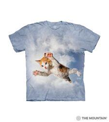Mountain футболка в  расцветке tie-dye с котенком