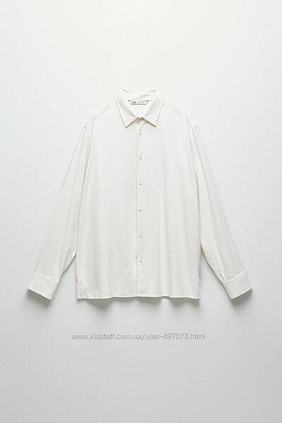 Рубашка Zara из дикого шелка чесуча