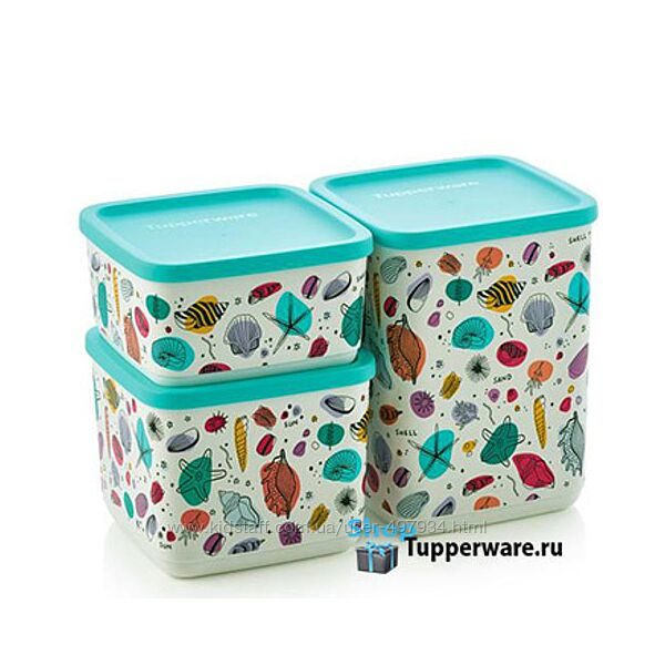 Набор Кубикс Рио 650/1/1,8 л, Tupperware