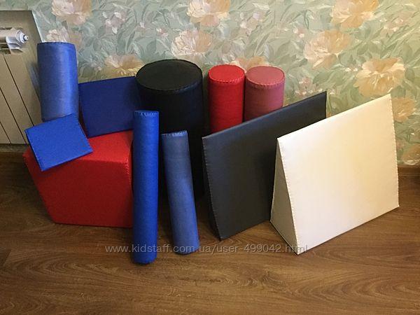 Валик, куб, клин, пирамида, мат для занятий с детьми с ДЦП.