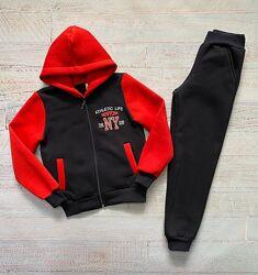 Теплые подростковые костюмы для мальчиков от 128-152см, разные цвета