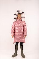 Удлиненные зимние куртки для девочек от 134рр-164рр, 3 цвета
