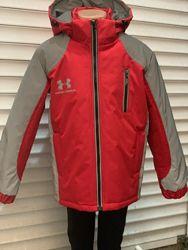 Теплые курточки демисезон светоотражающие для мальчика 110-140см