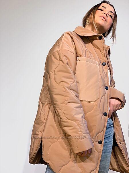 Стеганая узорная куртка-рубашка, С-М-Л, разные цвета