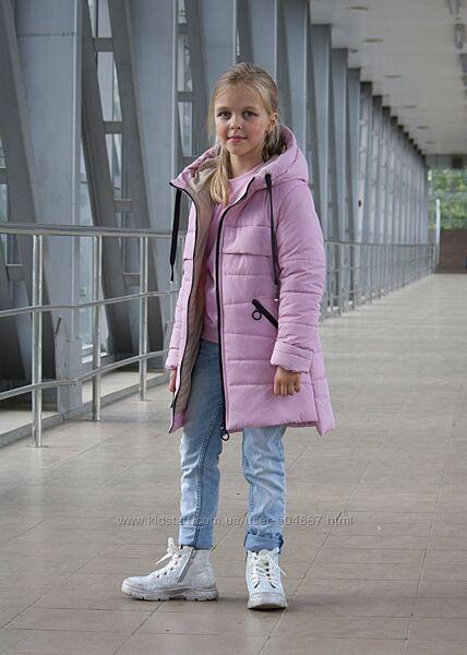Демисезонная куртка удлиненная для девочки от 116-146см, разные цвета