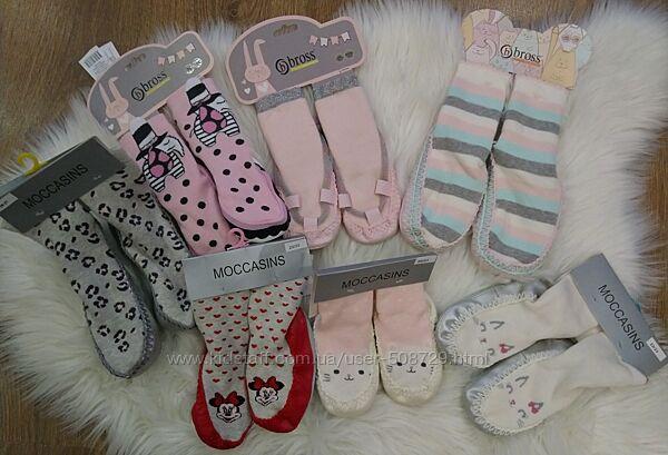 Махровые носочки - чешки для девочки
