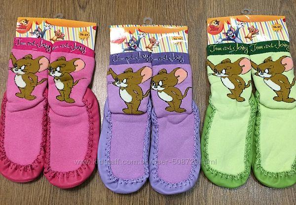 Теплые махровые носки-чешки UCS Турция. Том и Джерри