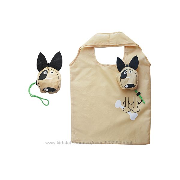 Эко сумка складная Собачка торба