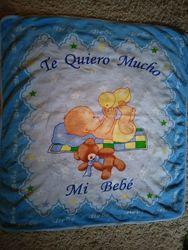 Детский плед покрывало одеяло 106х97