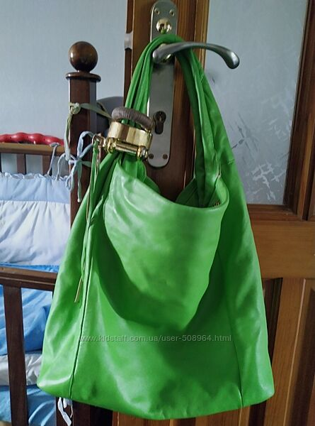 Сумка торба Jimmy Choo зеленая яркая
