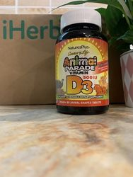 Витамин Д3 Nature&acutes Plus, Source of Life, Animal Parade, витамин D3