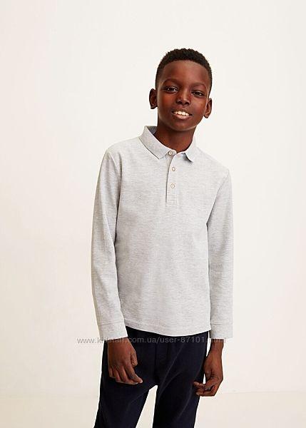 Новое детское поло с длинными рукавами кофта футболка свитер Mango 152 158