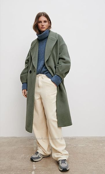Новое тёплое шерстяное женское пальто миди Zara S M 36 38 40