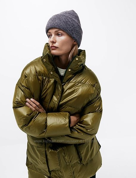 Новая демисезонная куртка курточка пуховик zara xs m