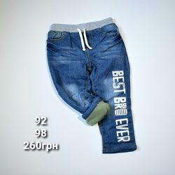 Утеплені джинси 92, 98р