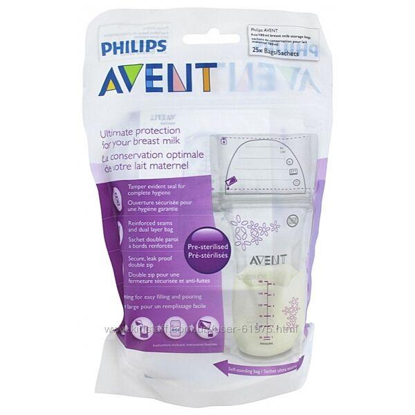 Пакети Philips AVENT для зберігання грудного молока 25 х 180 мл