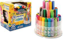 фломастеры Crayola 50шт в телескопической подставке