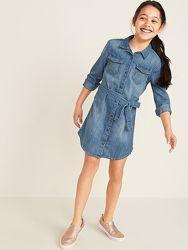 Джинсовое платье- рубашка Old navy