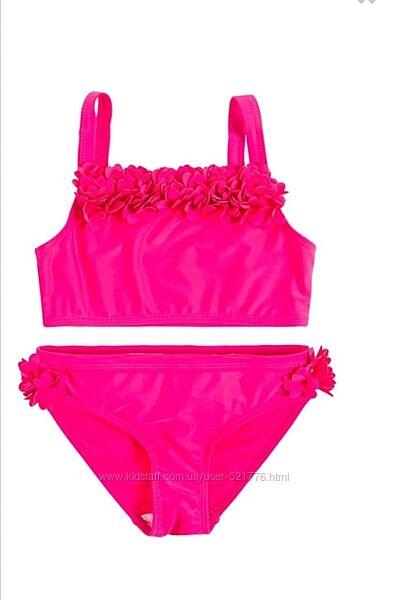 Яркий розовый купальник танкини Cool Club на девочку, рост 110