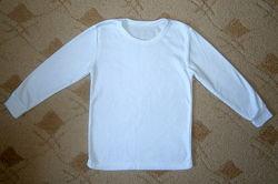 Термобелье реглан с начесом белый кофта поддевка нижнее белье теплый