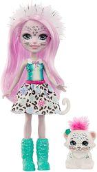 Enchantimals Sybill Snow Leopard Small Doll Енчантімалс сніжний барс