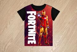 Футболка Fortnite  Iron Man для мальчиков ,6-14 лет, Турция