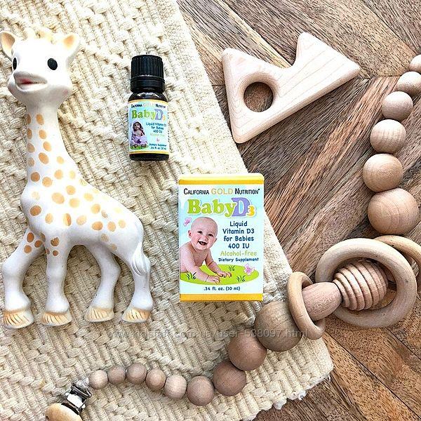California Gold Nutrition Витамин D3 в каплях для детей. 400 МЕ, 10 мл