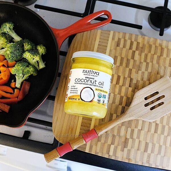 Nutiva органическое кокосовое масло с ароматом сливочного масла. 414 мл