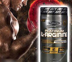 Muscletech Platinum 100  L-Arginine L-аргинин. 1000 мг, 100 таблеток