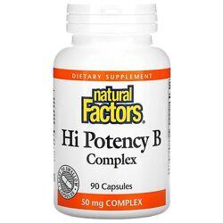 Natural Factors высокоэффективный комплекс витаминов группы B. 90 капсул