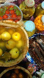 Моченые яблочки Антоновка, груши и сливы на фруктозе, меду, родниковой  вод