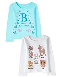 Красивые регланы Childrens Place девочке 5-6, 7-8 лет Новая коллекция 2021