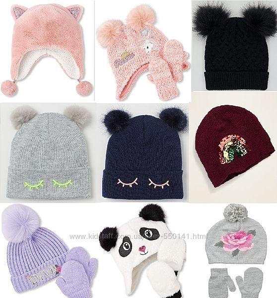 Модная шапка комплект H&M, Childrens девочкам 2-3 4-5 7-10-12 Выбор моделей