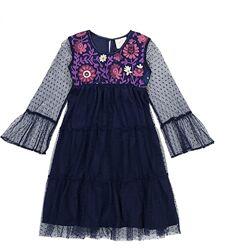Праздничное красивое платье бренды США девочкам от 6 до 10лет Красное синее
