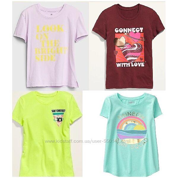 Фирменная футболка GAP Old Navy H&M девочкам 6-7, 8-9, 10-11, 12-14 лет.