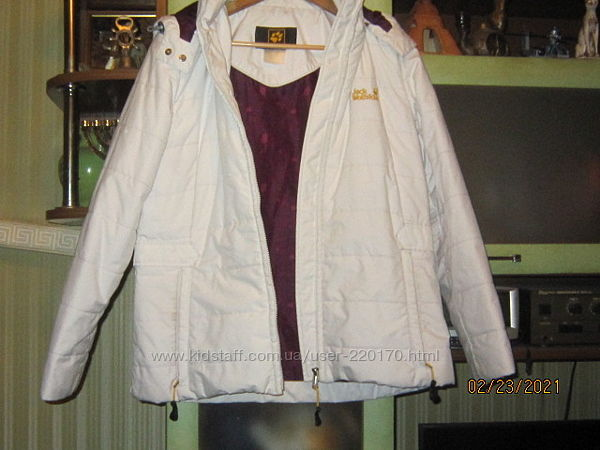 Куртка белая Jack Wolfskin L-ка