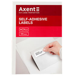 Самоклеящиеся этикетки, стикеры Axent А4 - 27 штук на листе