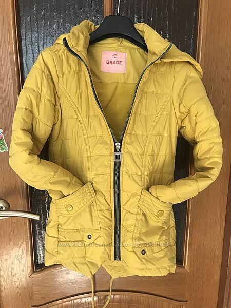 Удлинённая куртка на девочку рост 134