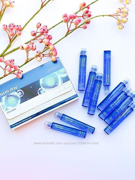 Филлер для волос farmstay collagen water full moist treatment hair filler
