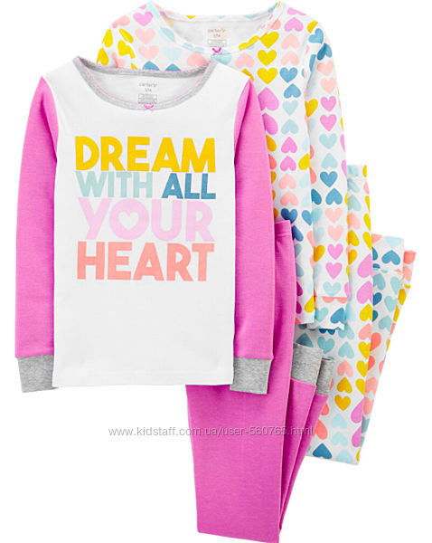 Пижама Сarters Америка Картерс 10-12 лет 140-147 см девочке с сердечками