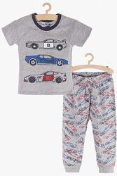 Хлопковая пижама 98-128 см 2-6 лет футболка и штаны бред 5.10.15 Польша
