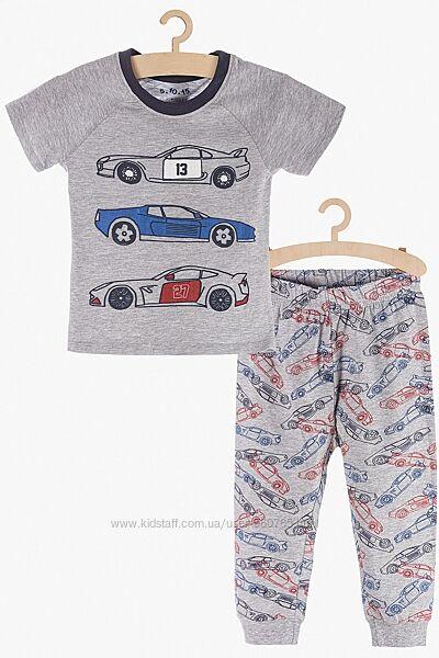 Пижама 98-128 см 2-6 лет футболка и штаны бренд 5.10.15 Польша с машинами