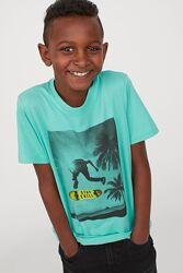 Хлопковая футболка H&M 134-170 см 8-14 лет для мальчика парня
