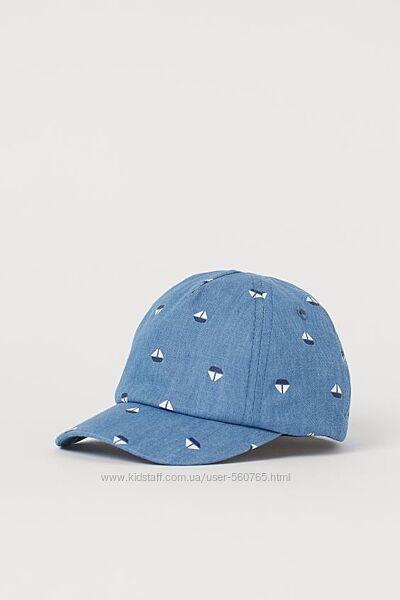 Хлопковая кепка бейсболка кепи H&M Англия для мальчика малыша 3-9 месяцев