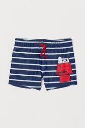 Плавки H&M Англия 110-140 см Snoopy Снупи для мальчика для плаванья