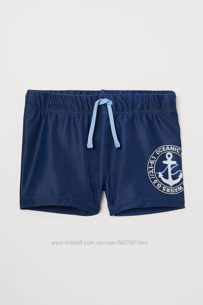 Плавки H&M Англия 110-140 см 4-10 лет синие с якорем для мальчика